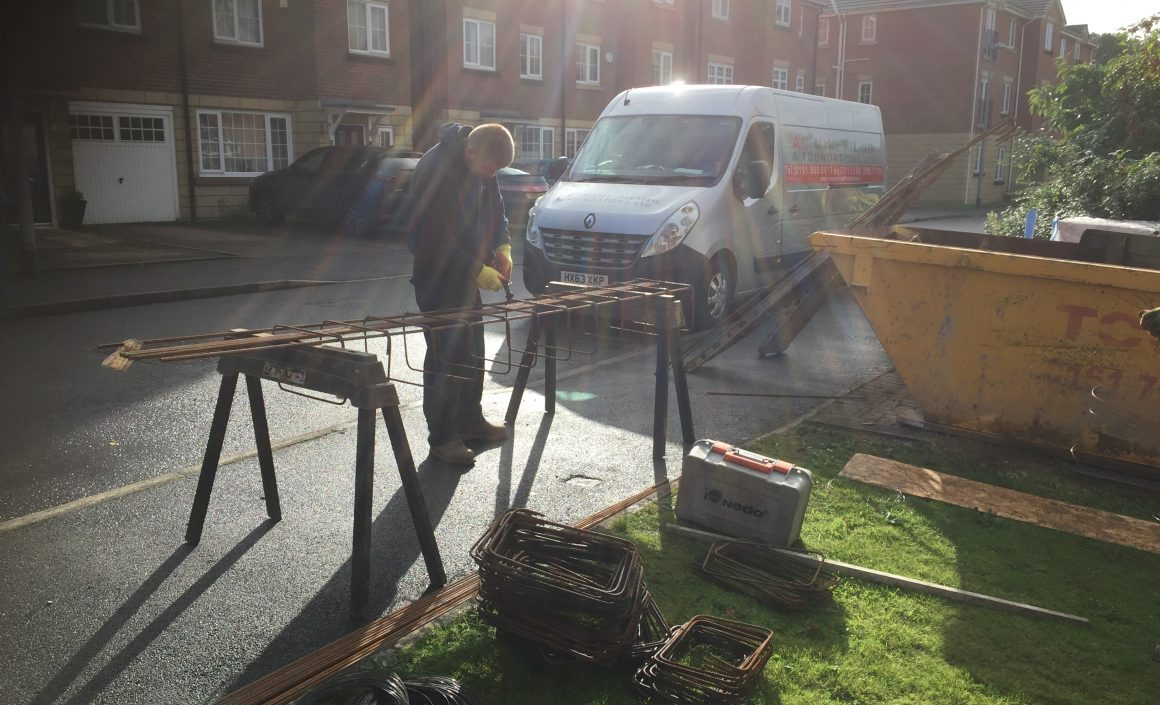 Small Extension Footings in Monton