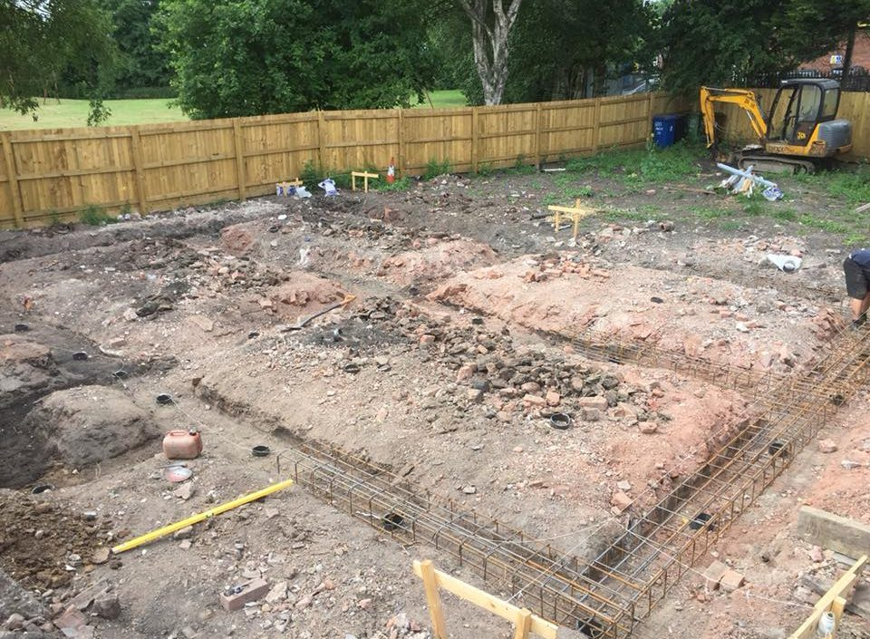 New Build Footings and Foundations in Astley