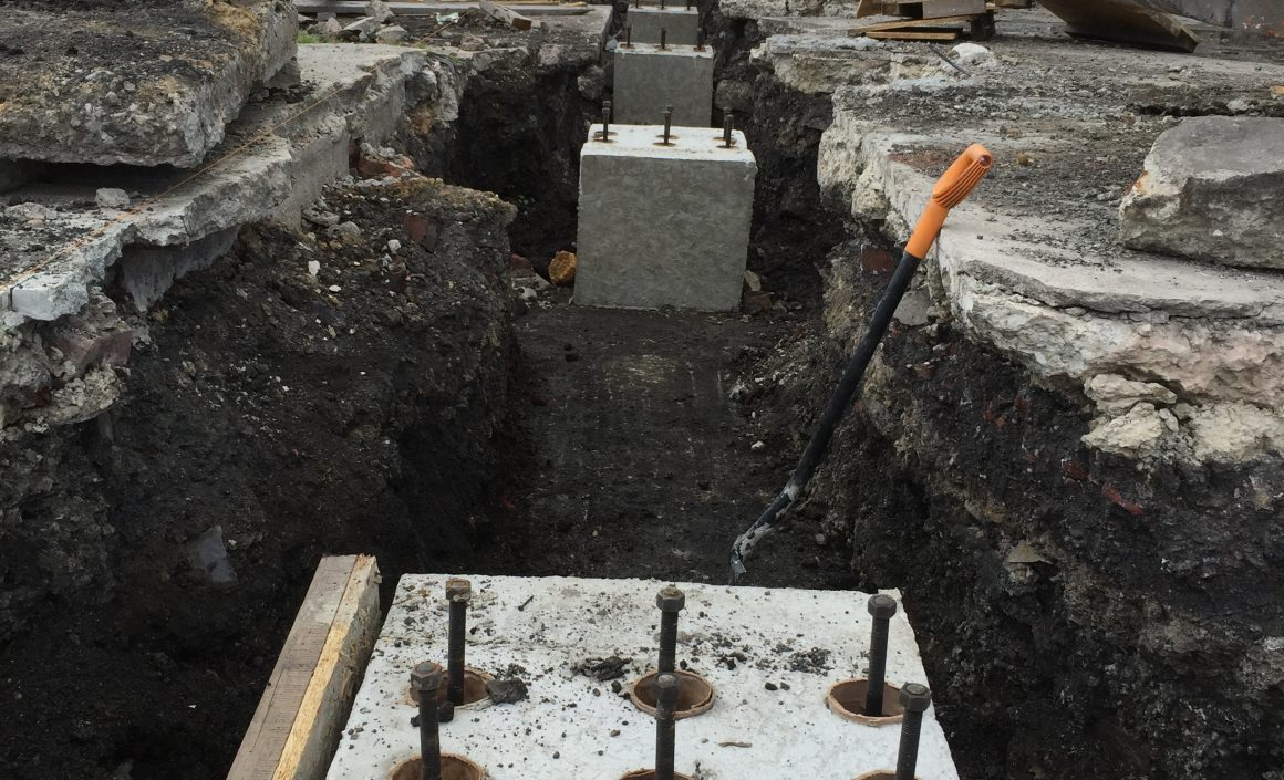 Foundations and Bolt Boxes in Bury