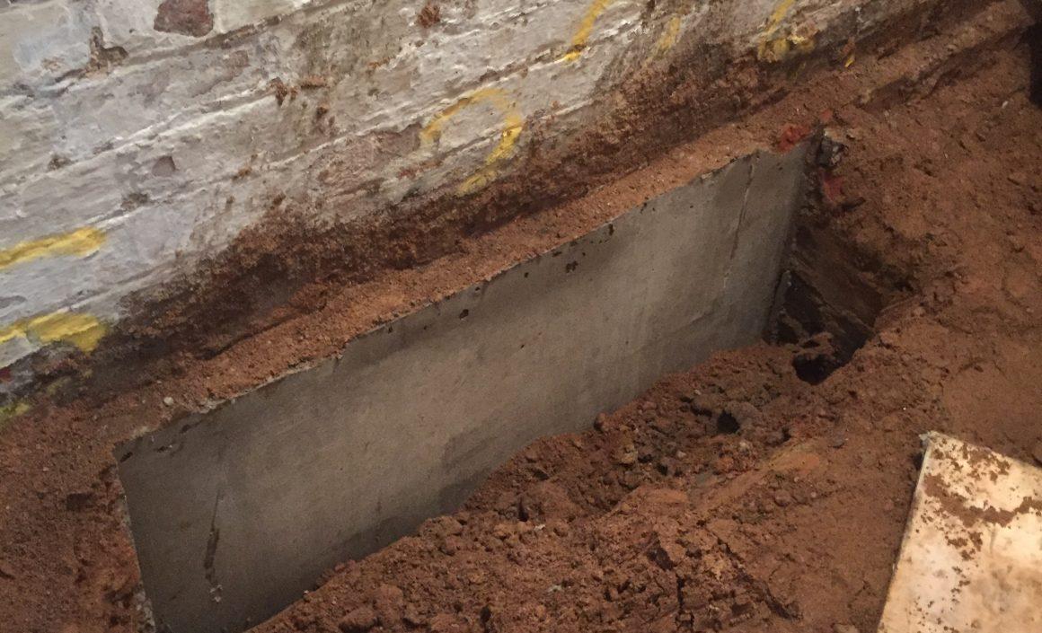 Cellar Underpinning Project in Prestwich